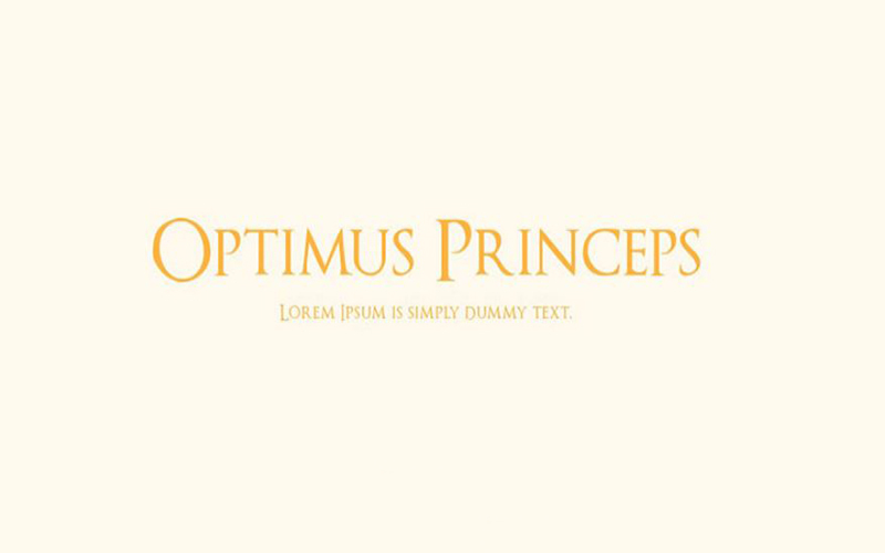 You are currently viewing Optimus Princeps Font  Free Download