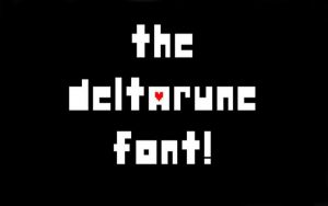 Deltarune Font Free Download