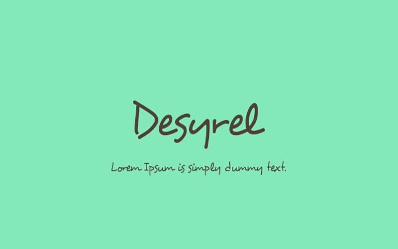 You are currently viewing Desyrel Font Free Download