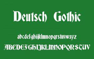 Deutsch Gothic Font Free Download