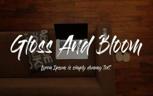 Gloss And Bloom Font Free Download
