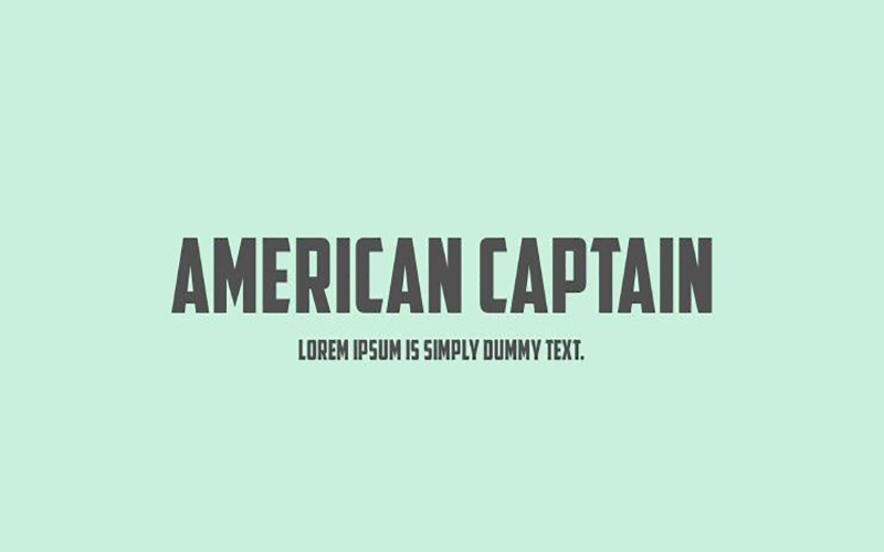 You are currently viewing American Captain Font Download