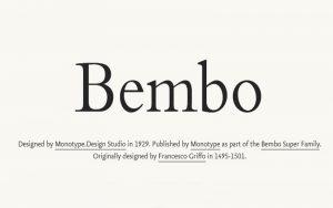 Bembo Font Free Download