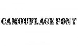 Read more about the article Camouflage Font Free Download