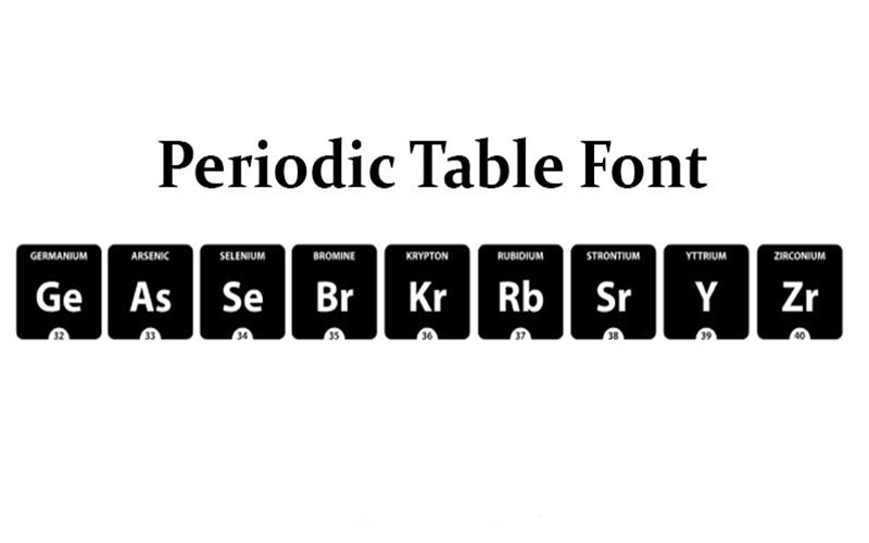 Periodic Table Font Download