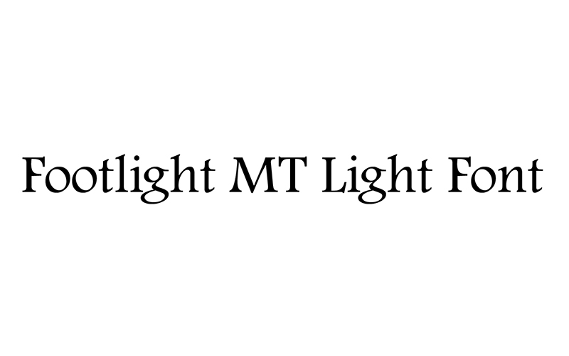 You are currently viewing Footlight MT Light Font Free Download