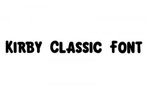 Read more about the article Kirby Classic Font Free Downlod