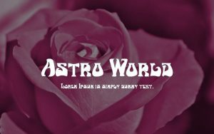 Astro World Font Free Download