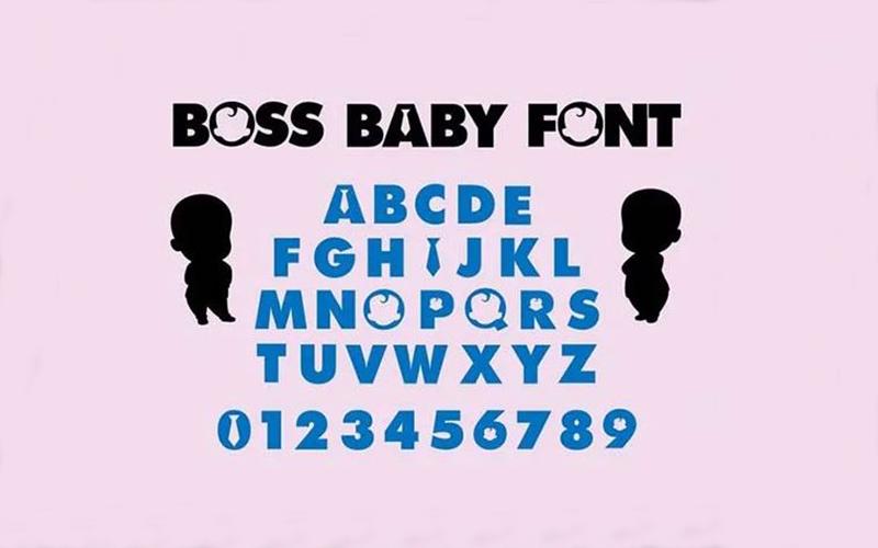 Boss Baby Logo Font Free Download
