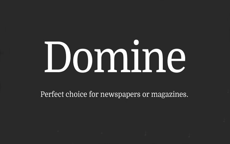 Domine Font Free Download
