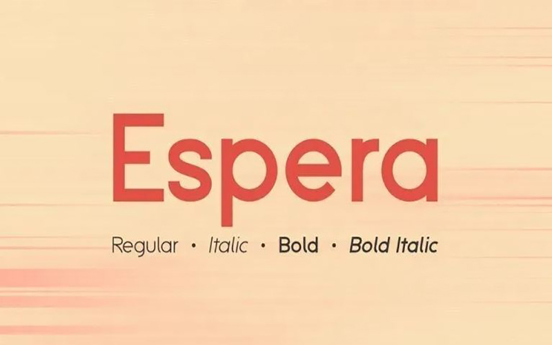 You are currently viewing Espera Font Free Download