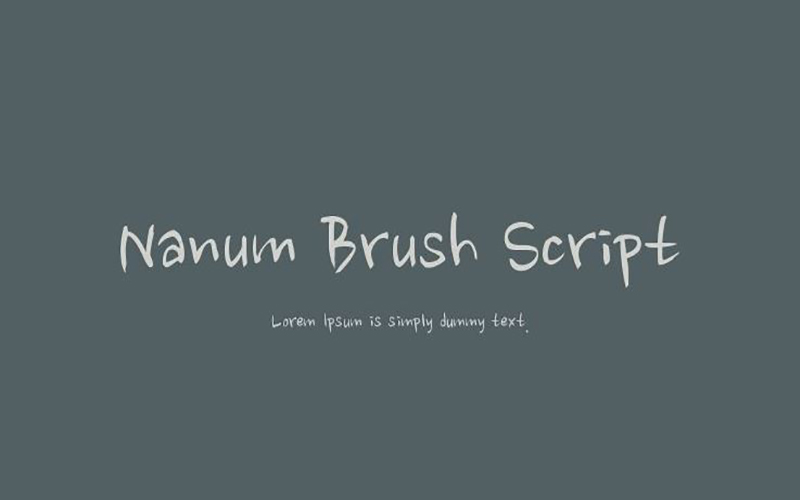 You are currently viewing Nanum Brush Script Font Free Download