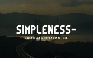Simpleness Font Free Download
